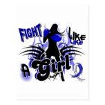 Lucha como un ALS 35,8 del chica Tarjetas Postales