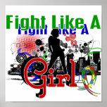 Lucha como un autismo 30,8 del chica poster
