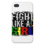 Lucha como un autismo 31,8 del chica iPhone 4 funda