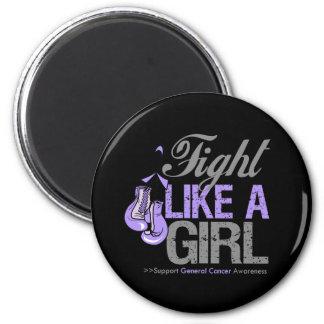 Lucha como un boxeo del chica - general Cancer Iman