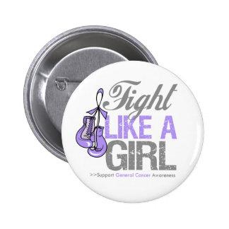 Lucha como un boxeo del chica - general Cancer Pins