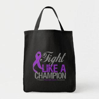 Lucha como un campeón - cáncer pancreático bolsas de mano
