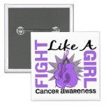 Lucha como un cáncer 8,3 del chica pin