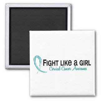 Lucha como un cáncer de cuello del útero del chica imán de frigorifico