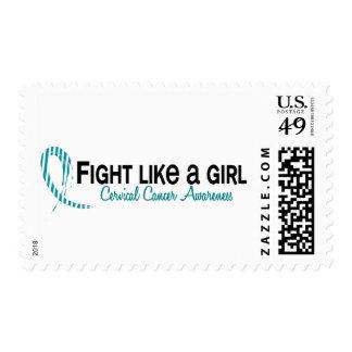 Lucha como un cáncer de cuello del útero del chica timbres postales