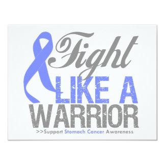 Lucha como un cáncer de estómago del guerrero invitacion personal