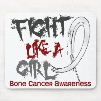 Lucha como un cáncer de hueso del chica 5,3 alfombrilla de raton