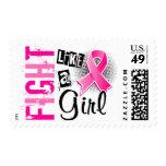Lucha como un cáncer de pecho del chica 36,8