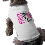 Lucha como un cáncer de pecho del chica 36,8 ropa de perro