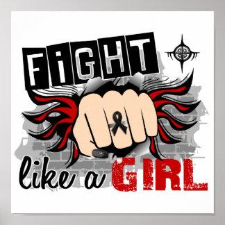 Lucha como un cáncer de piel del chica 27 8 impresiones