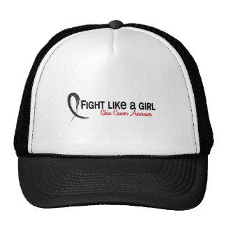 Lucha como un cáncer de piel del chica 6 3 gorras