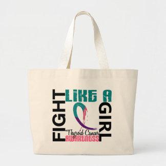 Lucha como un cáncer de tiroides del chica 3,3 bolsa lienzo