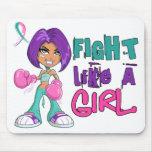 Lucha como un cáncer de tiroides del chica 42.8.pn tapete de raton