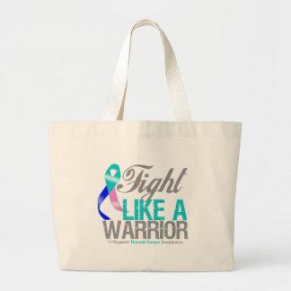 Lucha como un cáncer de tiroides del guerrero bolsa de mano
