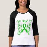 Lucha como un cáncer elegante del riñón del chica camisetas