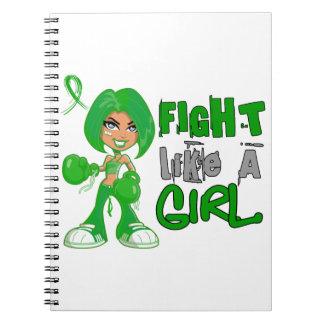 Lucha como un cáncer hepático 42 8 png del chica libros de apuntes
