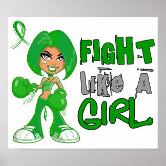 Lucha como un cáncer hepático 42 8 png del chica impresiones