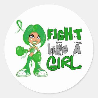 Lucha como un cáncer hepático 42 8 png del chica pegatinas redondas