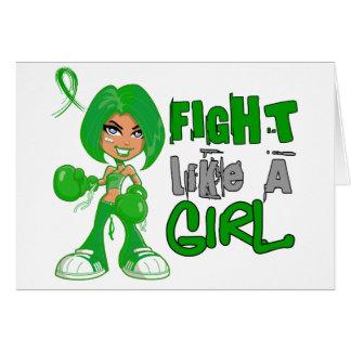 Lucha como un cáncer hepático 42 8 png del chica tarjetas