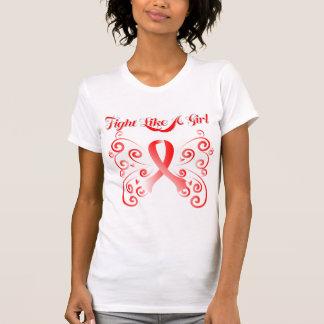 Lucha como un cáncer oral de la mariposa elegante camisetas