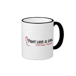 Lucha como un cáncer oral del chica 6,3 tazas de café