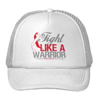 Lucha como un cáncer oral del guerrero gorras de camionero