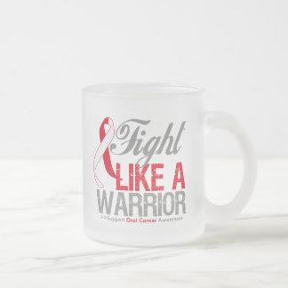Lucha como un cáncer oral del guerrero taza