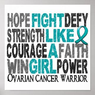 Lucha como un cáncer ovárico 23,4 del chica poster