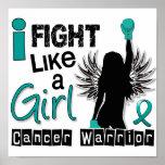 Lucha como un cáncer ovárico 26,2 del chica impresiones