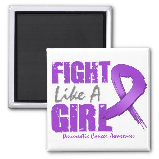Lucha como un cáncer pancreático apenado chica imán de frigorifico