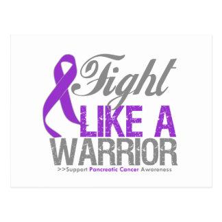 Lucha como un cáncer pancreático del guerrero tarjeta postal