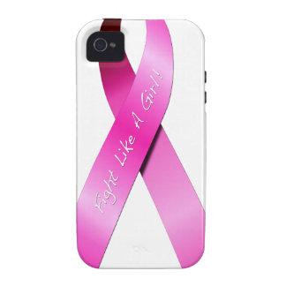 Lucha como un caso del iPhone 4s del chica Vibe iPhone 4 Carcasa