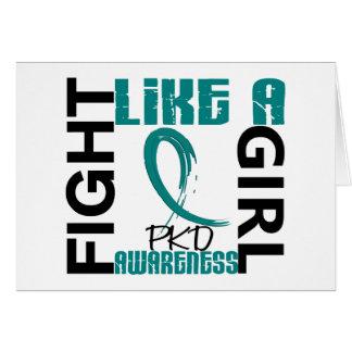 Lucha como un chica 3,3 PKD Tarjeta De Felicitación