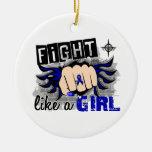Lucha como un chica Ankylosing Spondylitis 27,8 Adorno De Navidad