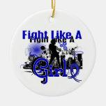 Lucha como un chica Ankylosing Spondylitis 30,8 Ornaments Para Arbol De Navidad