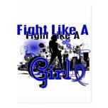 Lucha como un chica Ankylosing Spondylitis 30,8 Postales