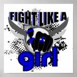 Lucha como un chica Ankylosing Spondylitis 33,8 Posters