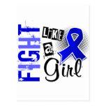 Lucha como un chica Ankylosing Spondylitis 36,8 Tarjeta Postal