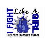 Lucha como un chica Ankylosing Spondylitis COMO 8, Postal