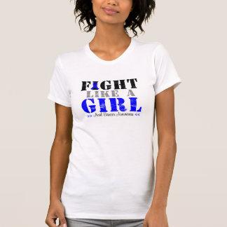 Lucha como un chica apenado - cáncer anal playera