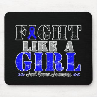 Lucha como un chica apenado - cáncer anal tapete de ratón