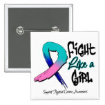 Lucha como un chica - apenado - cáncer de tiroides pin