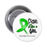Lucha como un chica - apenado - cáncer del riñón pin