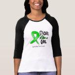 Lucha como un chica - apenado - cáncer del riñón camisetas