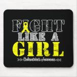 Lucha como un chica apenado - endometriosis tapetes de ratones