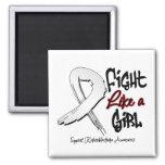 Lucha como un chica - apenado - Retinoblastoma Imanes De Nevera