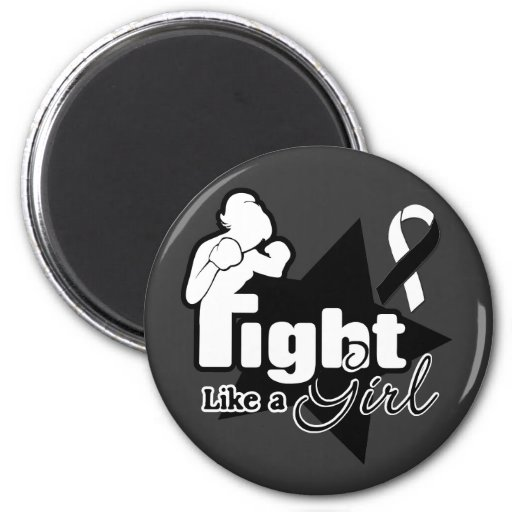 Lucha como un chica - cáncer carcinoide imán para frigorifico