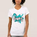 Lucha como un chica - cáncer de cuello del útero camiseta
