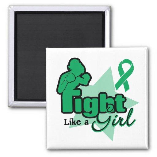 Lucha como un chica - cáncer de hígado imán