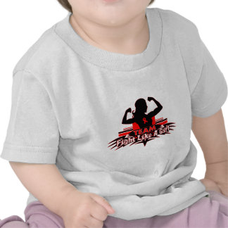 Lucha como un chica - cáncer del equipo de sangre camiseta